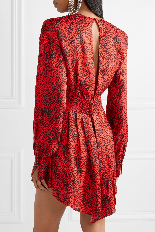 Alessandra Rich Leopard-print silk-jacquard mini dress