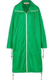 Hooded shell raincoat