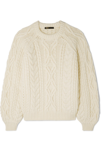 23a55ac29546d4 Maje. Cable-knit sweater