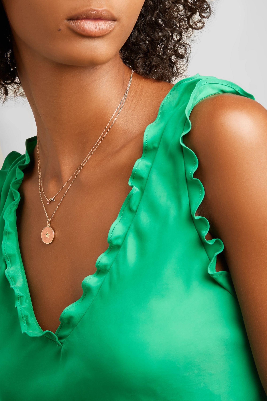 Andrea Fohrman 14-karat gold multi-stone necklace