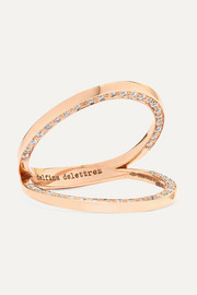 Delfina Delettrez 18-karat rose gold diamond ring