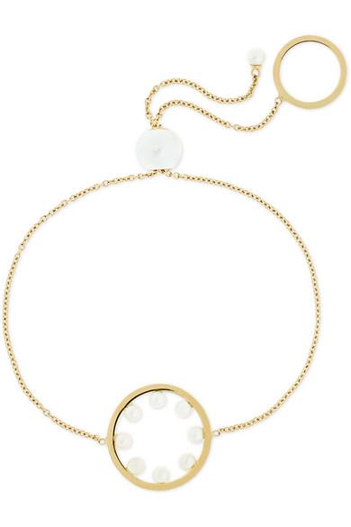 DELFINA DELETTREZ 18-Karat Gold Pearl Bracelet