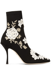 Dolce & Gabbana Sock Boots aus Stretch-Strick mit Applikationen