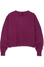Unravel Project Distressed wool and cashmere-blend sweater