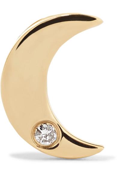 STONE AND STRAND 14-KARAT GOLD DIAMOND EARRING
