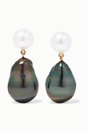 Sophie Bille Brahe Venus 14-karat gold pearl earrings