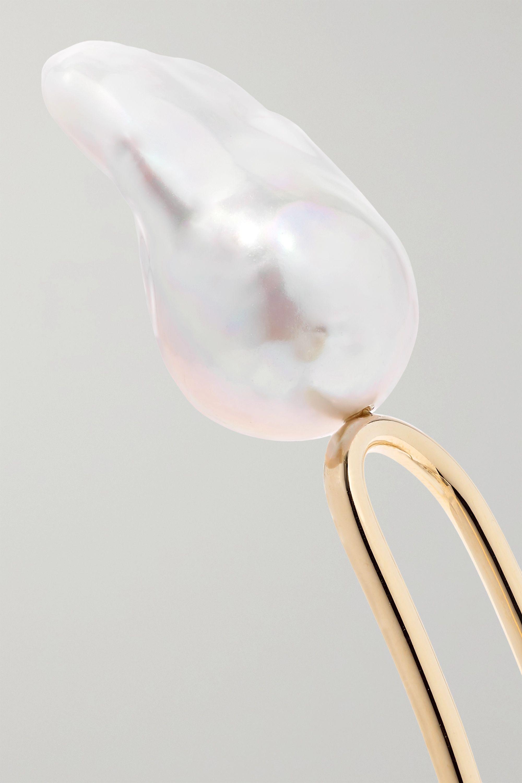 Sophie Bille Brahe Grace Blanc 10-karat gold pearl hair slide