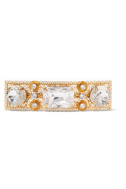 Dolce & Gabbana Gold-plated crystal hairclip