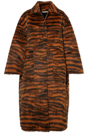 Bottega Veneta Oversized tiger-print llama-blend coat