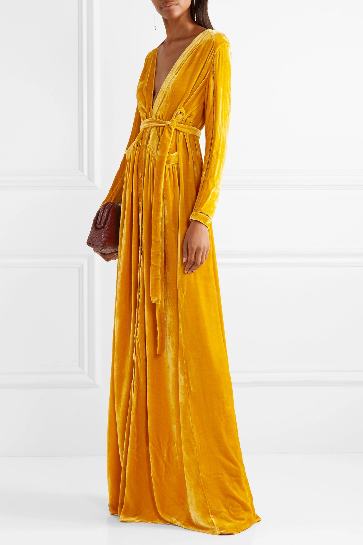 Yellow Velvet Maxi Dress Off 53 Www Abrafiltros Org Br