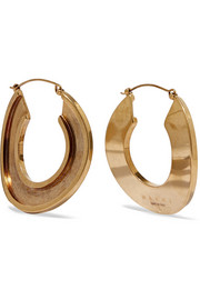 Marni Monile gold-tone hoop earrings