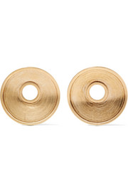 Monile gold-tone clip earrings