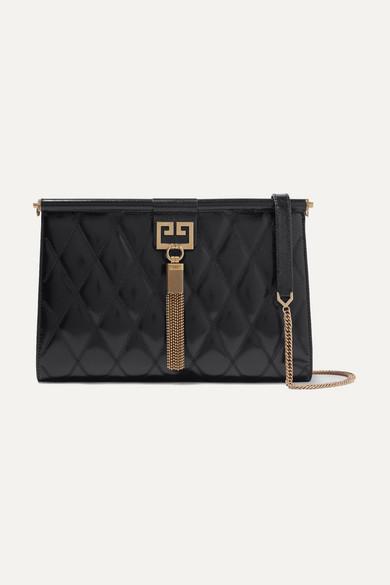808b5c9bea0 Givenchy. Gem medium quilted glossed-leather shoulder bag