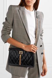 GivenchyGem quilted glossed-leather shoulder bag