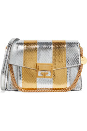 Givenchy GV3 small metallic watersnake shoulder bag