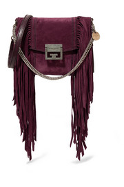 GV3 small fringed suede shoulder bag
