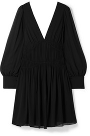 Stella McCartney Ruched silk-crepe mini dress