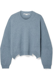 Stella McCartney Asymmetric wool and alpaca-blend sweater
