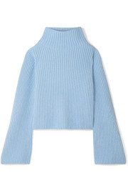 Stella McCartney Ribbed cashmere and wool-blend turtleneck sweater