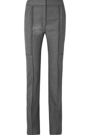 Stella McCartney Wool and cotton-blend straight-leg pants