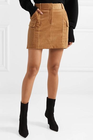 Stella Mccartney Skirts Cotton-corduroy mini skirt