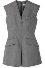 Stella McCartney Frayed wool and cotton-blend vest