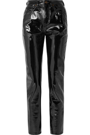 Saint Laurent Vinyl slim-leg pants