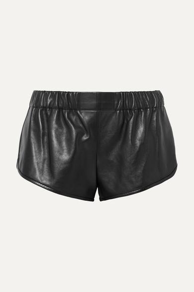 5c29104d9348 SAINT LAURENT. Leather shorts
