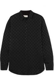 Saint Laurent Checked silk-jacquard shirt