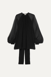 Saint Laurent Silk-georgette blouse