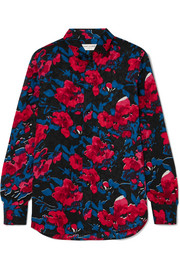 Saint Laurent Floral-print silk-jacquard shirt