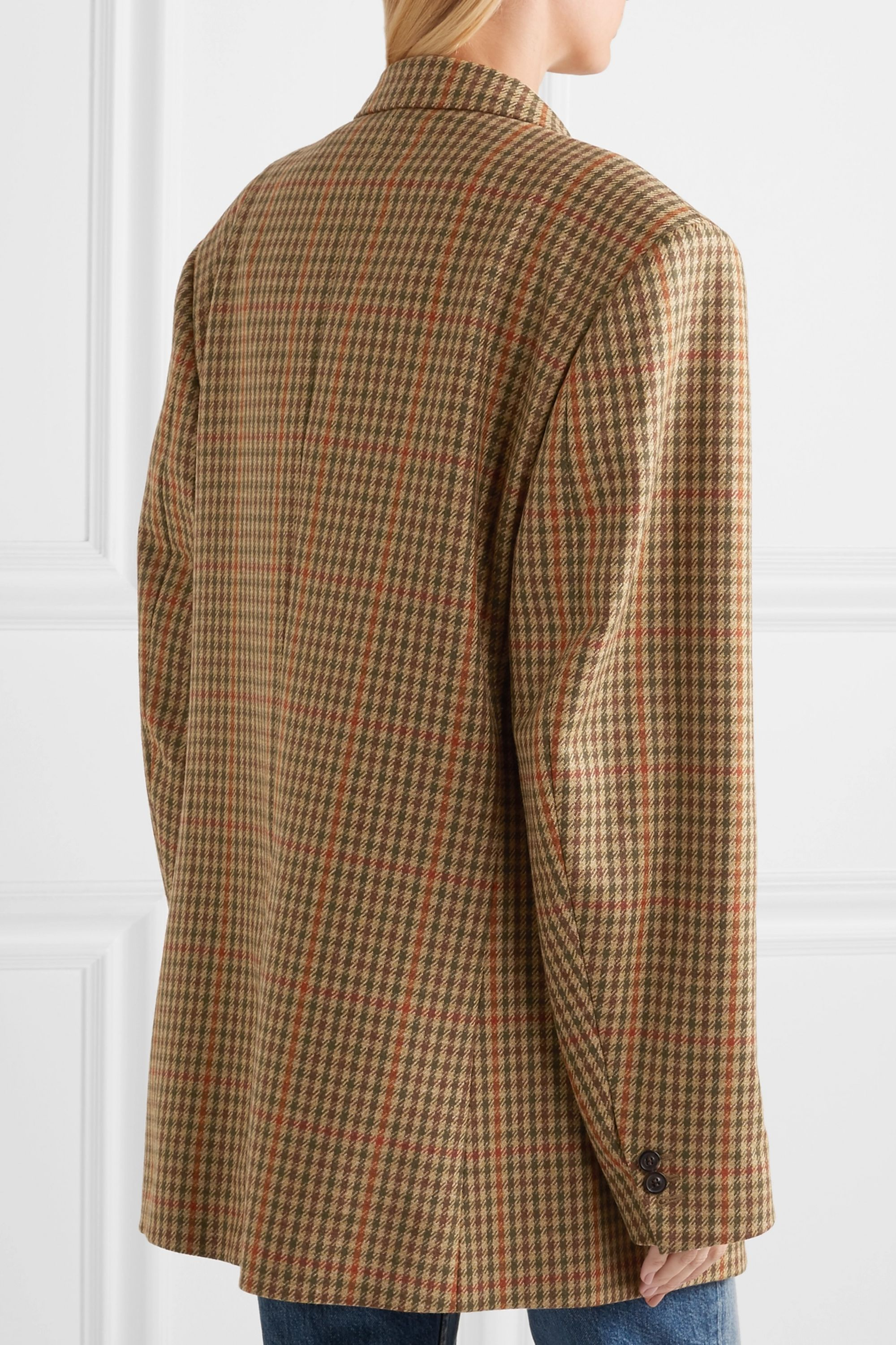 Maison Margiela Oversized checked wool blazer