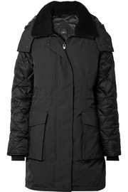 Elwin shearling-trimmed quilted shell down jacket