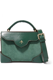 MANU Atelier Bold micro leather and suede shoulder bag