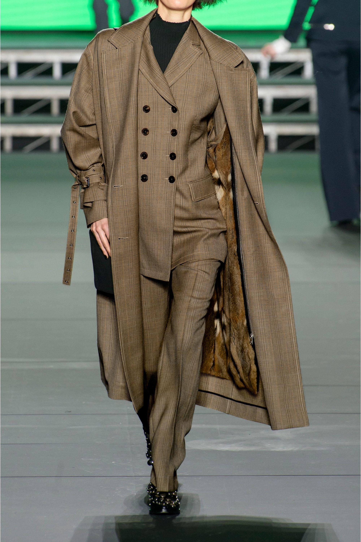 Sonia Rykiel Oversized Prince of Wales wool trench coat