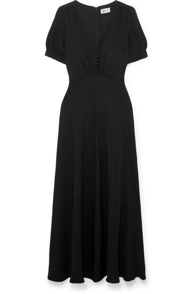 PAUL & JOE Becca Crepe Maxi Dress in Black