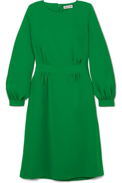 PAUL & JOE Voyage Belted Twill Dress in Green