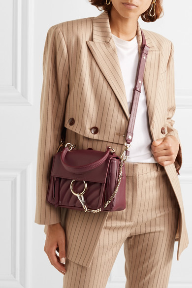 b3ac644262 Chloé | Faye Day small quilted leather shoulder bag | NET-A-PORTER.COM