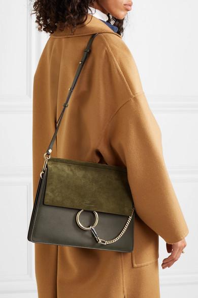 69529c1ce2 Chloé | Faye medium leather and suede shoulder bag | NET-A-PORTER.COM