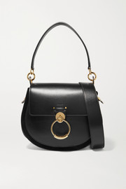 Tess leather and suede shoulder bag