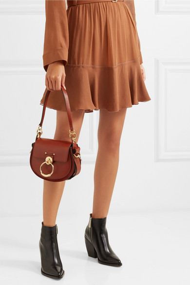 6c260da4 Chloé | Tess leather and suede shoulder bag | NET-A-PORTER.COM