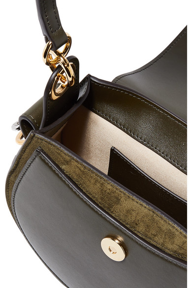 8ce0bfd089ba Chloé. Tess small leather and suede shoulder bag.  1