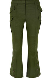 Rokh Cotton-drill flared pants
