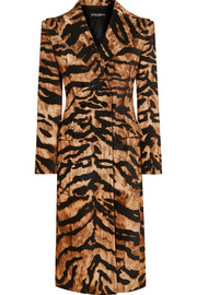 Dolce & Gabbana Tiger-print cotton-blend coat