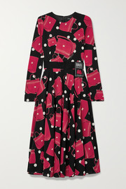 Dolce & Gabbana Printed stretch-silk chiffon midi dress