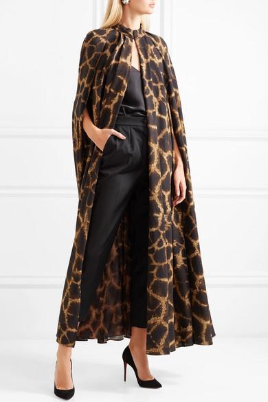 NET imprimé en cady amp; Gabbana COM A PORTER animal Dolce Cape à xnTwpgY78q