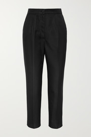 Dolce & Gabbana Silk-blend straight-leg pants