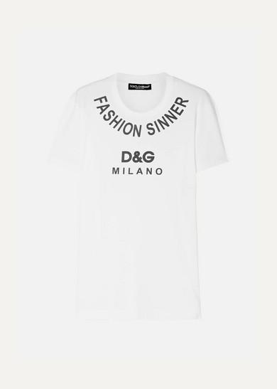 Dolce And Gabbana White Fashion Sinner T-Shirt