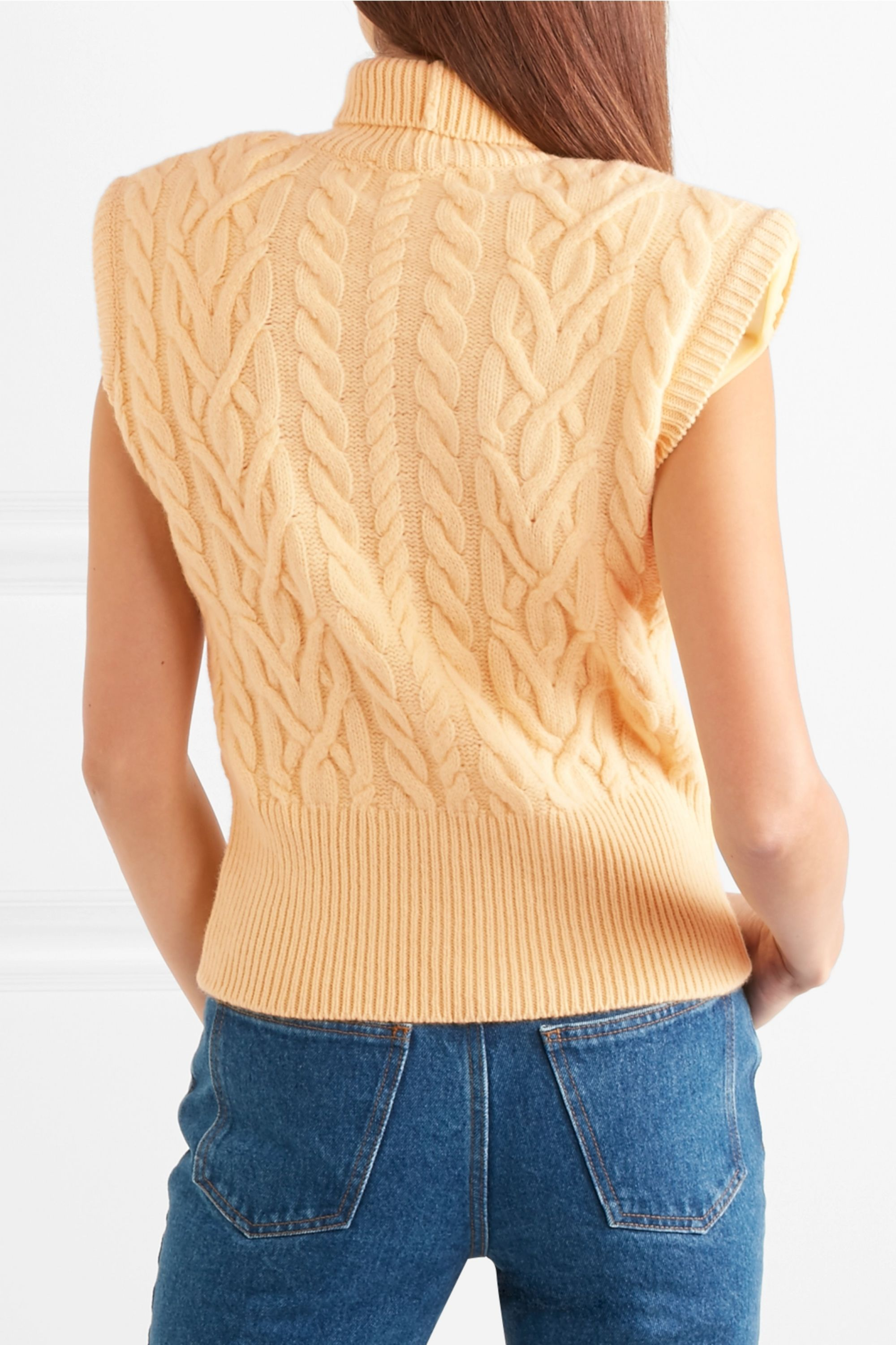 The Attico Cable-knit wool turtleneck sweater