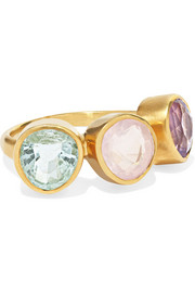 Pippa Small 18-karat gold multi-stone ring